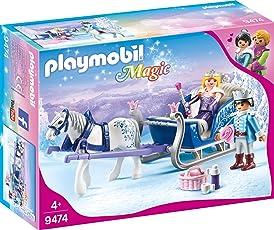 PLAYMOBIL 9474 Spielzeug - Schlitten mit Königspaar, Unisex-Kinder