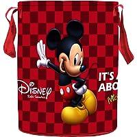Kuber Industries Disney Mickey Print Round Non Woven Fabric Foldable Laundry Basket, Toy Storage Basket, Cloth Storage…