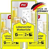 PIC Lebensmittel-Mottenfalle - Dreierpack = 6 Stück - Mittel zur Bekämpfung und Schutz vor Motten in der Küche und…
