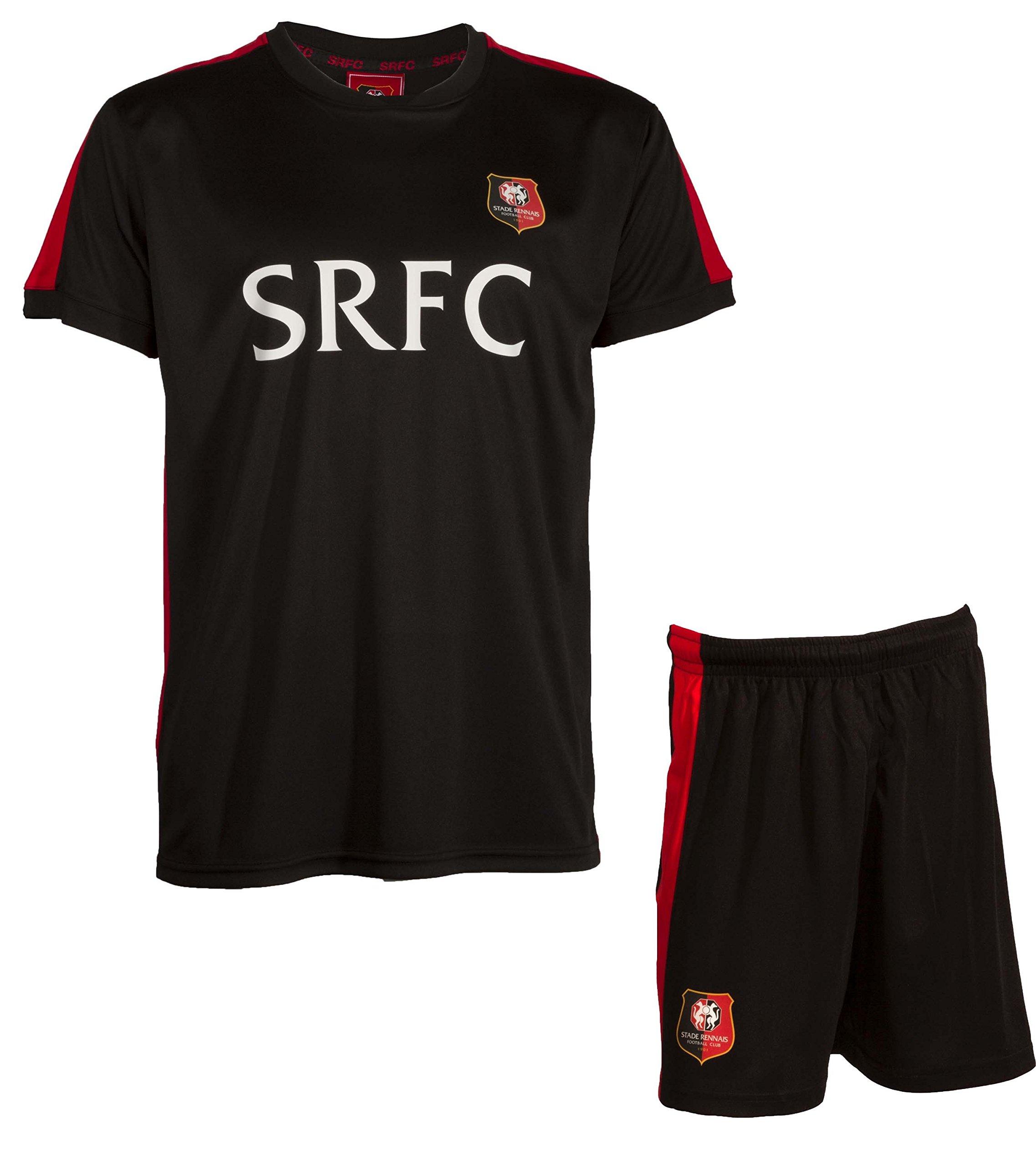 Stade Rennais - Set Maglia + Pantaloncini–Rennes, misure da Bambino, Ragazzo, nero, 14 anni