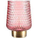 Pauleen 48134 Sweet Glamour Lampe Mobile Poser minuterie 6h Pile luminaire câble Verre Métal, 0.8 W, Rose, Laiton