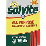 Solvite All-Purpose Wallpaper Adhesive, Reliable Adhesive for Wallpaper, All-Purpose Adhesive with Long-Lasting Results, Wall