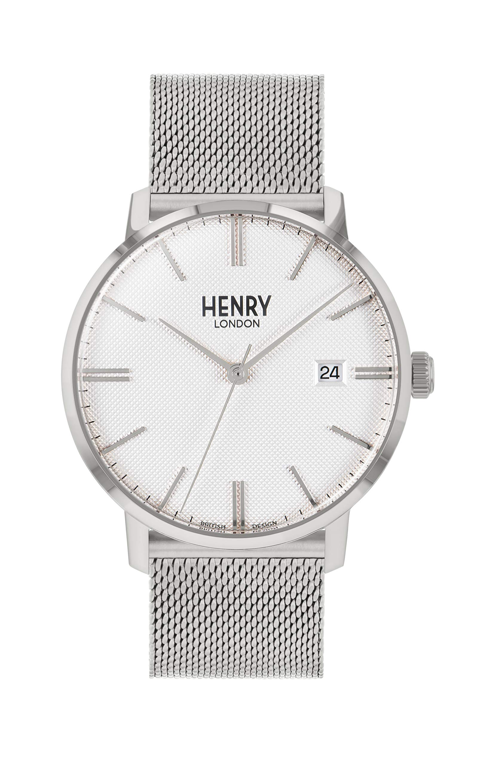 Henry London Unisex Adult Analogue Classic Quartz Watch with Stainless Steel Strap HL40-M-0373