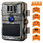 """Campark Wildkamera mit bewegungsmelder nachtsicht 14MP 1080P 2.4"""" LCD Wasserdicht IP66 Jagdkamera Wildtierkamera für..."""