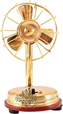 Indian Art Villa Brass Battery Working Mini Table Fan