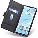 Huawei P30 Pro Fodral, Huawei P30 Pro Fall, Huawei P30 Pro Mobilskal Korthållare, Magnetisk Stängning, Ställ, Hülle/Handyhüll