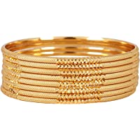 Shining Diva Fashion Latest One Gram Gold Plated Set of 8 Traditional Bangles for Women and Girls