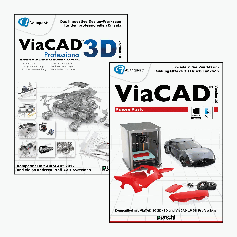 ViaCAD 3D Professional 10 inkl. PowerPack 10 - Fortgeschrittenes CAD-Design inkl. leistungsstarker Werkzeuge für einen sorgenfreien 3D Druck! Windows 10|8|7|Vista (64-bit) [Download]