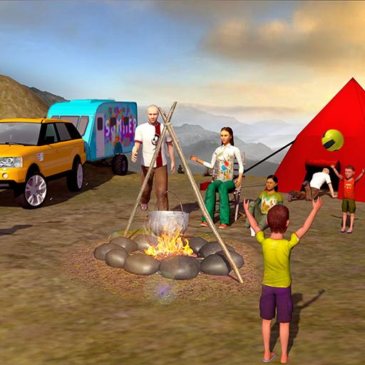 Sommer Wohnmobil Van Fahren LKW Simulator 2018: Glücklich Virtuell Familie Spiele Frei für Kinder