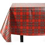 Vinylla Royal Stewart Tartan Vinyl Coated Cotton Easy Wipe Clean Oilcloth Tablecloth