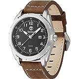 Timberland - TBL.13330XS/02 - Newmarket - Montre Homme - Quartz Analogique - Cadran Noir - Bracelet Cuir Marron