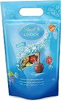 Lindt Lindor Vollmilch-Mischbeutel, gefüllt mit einzeln verpackten Kugeln, Vollmilch, Caramell, Doppelmilch und...