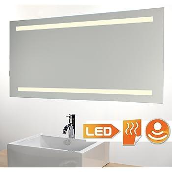 Badspiegel Led Beleuchtet Mit Sensor Und Heizung 80x60 Cm Amazon De