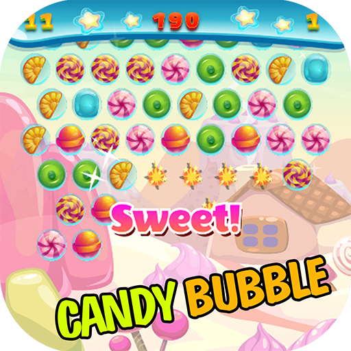 Candy Bubble Shooter - Free fun shooting simple match 3 candies bubble games!