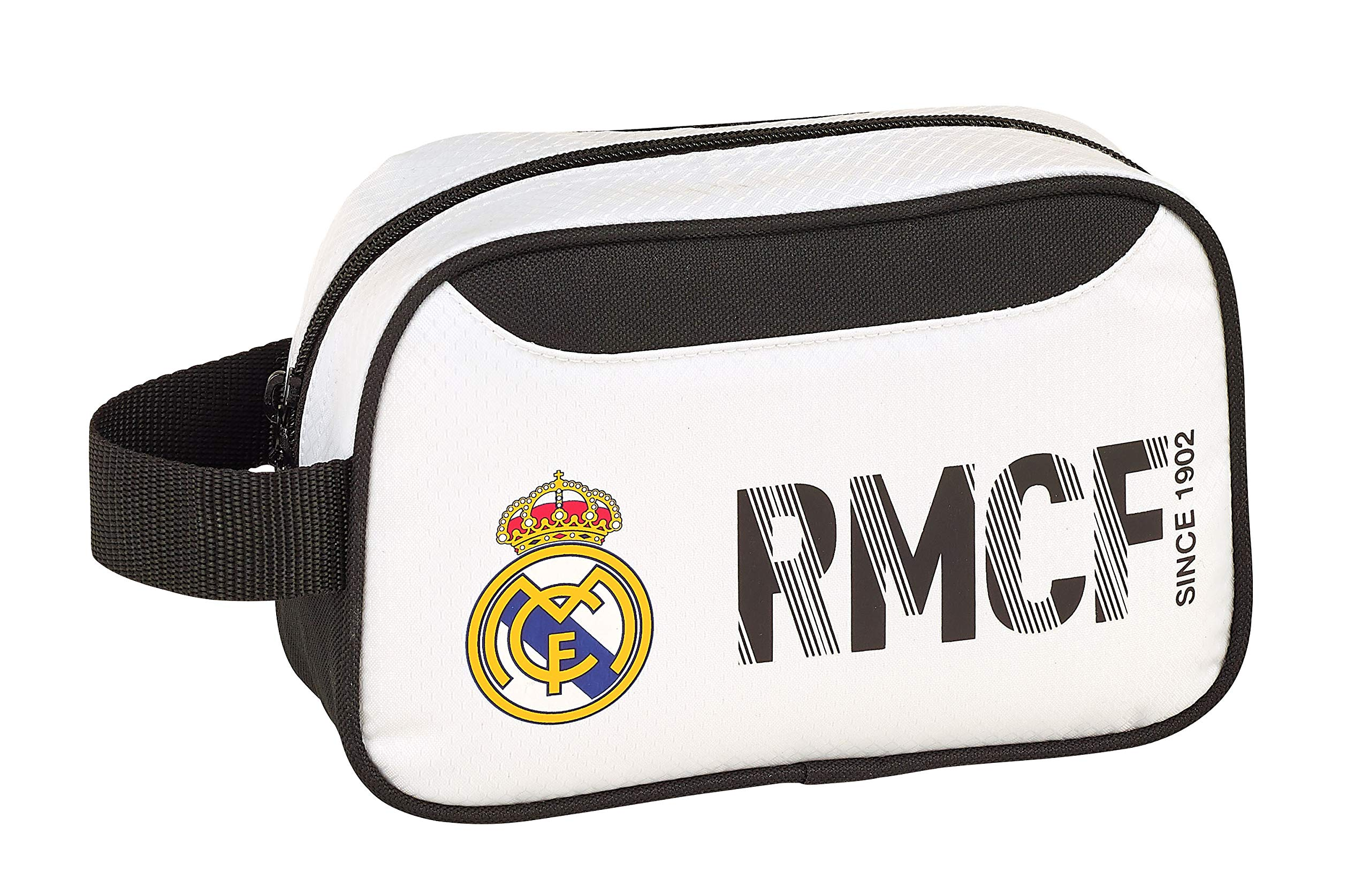 Real Madrid 811854234 2018 Bolsa de Aseo 22 cm, Blanco