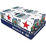 Heineken 0.0 % Non Alcoholic Lager Beer - Zero Dot Zero Can, 24 Pack, 24 x 330ml