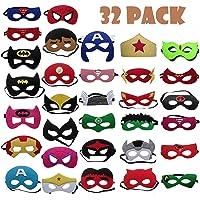 TATAFUN Maschere di Supereroi , Maschere Feltro Superhero Mask con Corda Elastica Supereroi Maschere Cosplay Maschere…