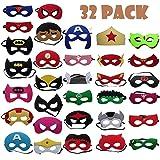 TATAFUN Máscaras de Superhéroe,Suministros de Fiesta de Superhéroes, Máscaras de Cosplay de Superhéroe con Cuerda Elástica Má