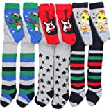 TupTam Boy's Knitted Tights Plain and Printed, Pack of 6