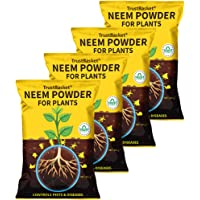 TrustBasket Neem Cake Powder Organic Fertilizer and Pest Repellent for Plants (450 GMS) - Set of 4
