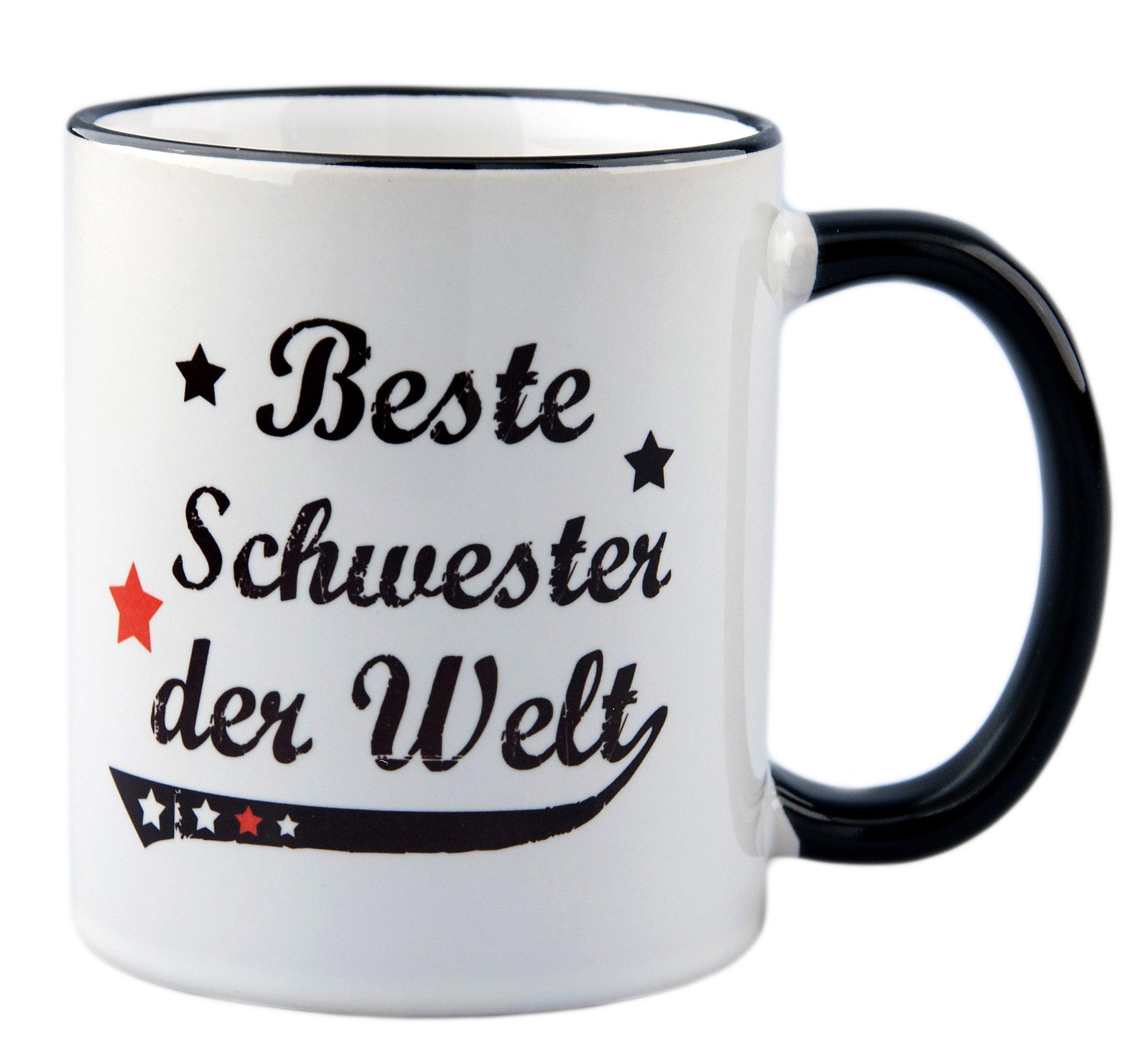 Schwester Geschenk - Tasse mit Druck für die beste Schwester der Welt