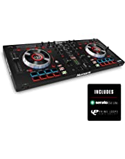 Numark Mixtrack Platinum | All-in-One 4 Deck DJ Controller with built in LCD Displays, Serato DJ Intro and Prime Loops Remix Tool Kit