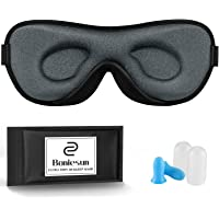 Boniesun Ultradünne Schlafmaske für Frauen & Männer, Schlafmaske für Seitenschläfer Verdunklungs-Augenmaske zum Schlafen…