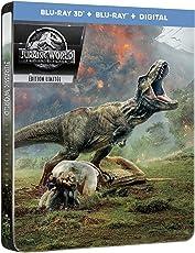 Jurassic World: Fallen Kingdom [Blu-ray 3D] [Combo Blu-ray 3D + Blu-ray + Digital - Édition boîtier SteelBook]