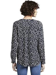 TOM TAILOR Damen Blusen Shirts /& Hemden Gemusterte Hemdbluse