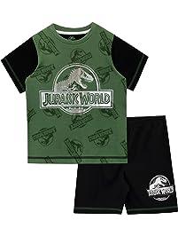 5e29ac8c72 Jurassic World Pijamas de Manga Corta para niños Dinosaurio