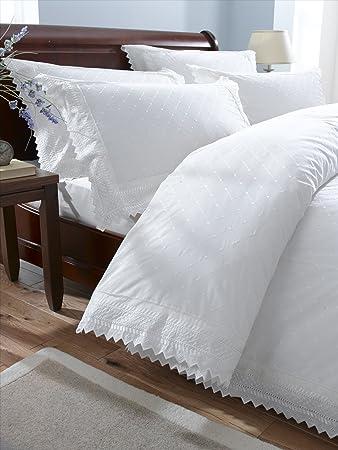 balmoral white king size embroidered duvet cover