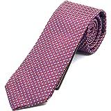 Cravatta uomo rossa - Cravatte seta 100% - Pietro Baldini - 150* 7 cm (rosso blu)