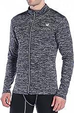 WHCREAT Herren Sport Aufwärmjacke Zip Sportjacke Coat Fitness Sweatshirts Langarm mit Reißverschluss