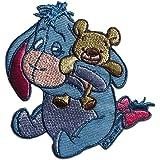 Disney © Winnie Puuh Esel I Aah mit Teddy - Aufnäher, Bügelbild, Aufbügler, Applikationen, Patches, Flicken, zum aufbügeln, G