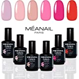 COFFRET ROSE MEANAIL® Paris • 6 VERNIS GEL POLISH • Vernis à ongles semi permanents longue tenue • Nail Art • Soak off Nail Polish • Vegan & Cruelty Free • Design et conception française
