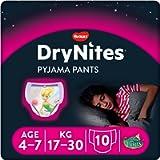 DryNites Huggies Bed Wetting Pyjama Pants for Girls, Age 4-7, (10 Pants)
