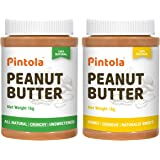 Pintola All Natural Peanut Butter (Crunchy) (1 kg) (Unsweetened, Non-GMO, Gluten Free, Vegan) + Pintola All Natural Honey Pea
