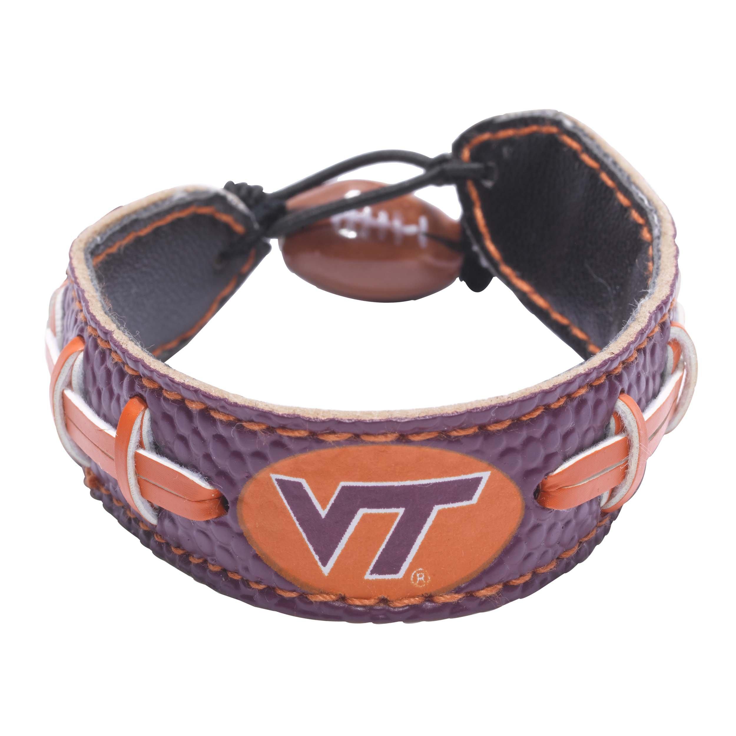 Virginia Tech Hokies Team Color Football Bracelet