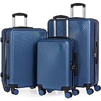Cabine Go - Ensemble de 3 valises - Bagages à la Main de 55 cm, Valise Moyenne de 65 cm, Grande Valise de 76 cm, en ABS…