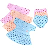 BabyBlossom Baby Girl's Cotton Frock and Shorts (0-3 Months, Multicolour) - Combo Pack of 3