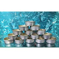 Phobis Tealight Aluminium Cups with Collar Candle Wax Containers 14Gram 38mm Dia x 14mm Height 100 Pieces