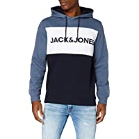 JACK & JONES Jjelogo Blocking Sweat Hood STS Felpa con Cappuccio Uomo