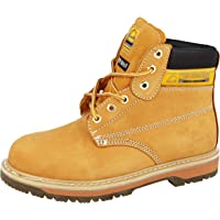 Mens Groundwork Safety Steel Toe Cap Durable Combat Lace up Work Wear Boots Shoes