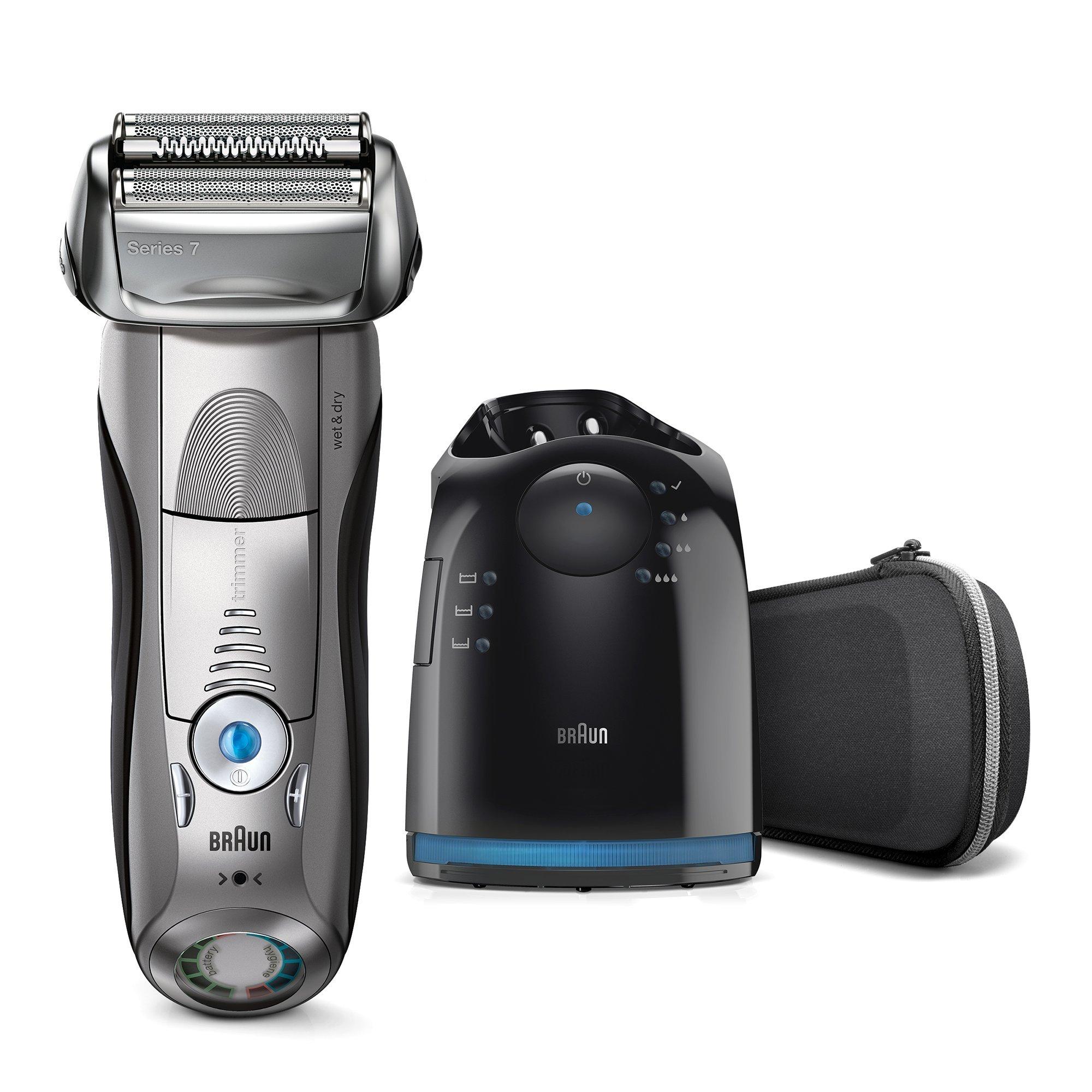 Braun Series 7 7898 cc – Afeitadora eléctrica para hombre de lámina , en seco y mojado, máquina de afeitar barba con estación de limpieza Clean & Charge