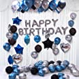 Party Propz Happy Birthday Balloons Decoration Kit 31 Pcs Set for Husband Boys Kids Balloons Decorations Items Combo with Hel