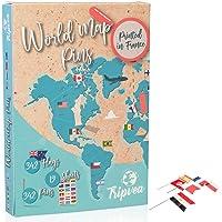 Tripvea 342 Welt Flaggen - Alle Länder der Welt - Perfekte Deko für Ihr Büro - Geschenkidee für Erwachsene und Kinder…