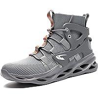 TQGOLD Chaussures de Securité Homme S3 Bottes de Travail Cuir Imperméables Embout Acier Bottines de Sécurité Légères