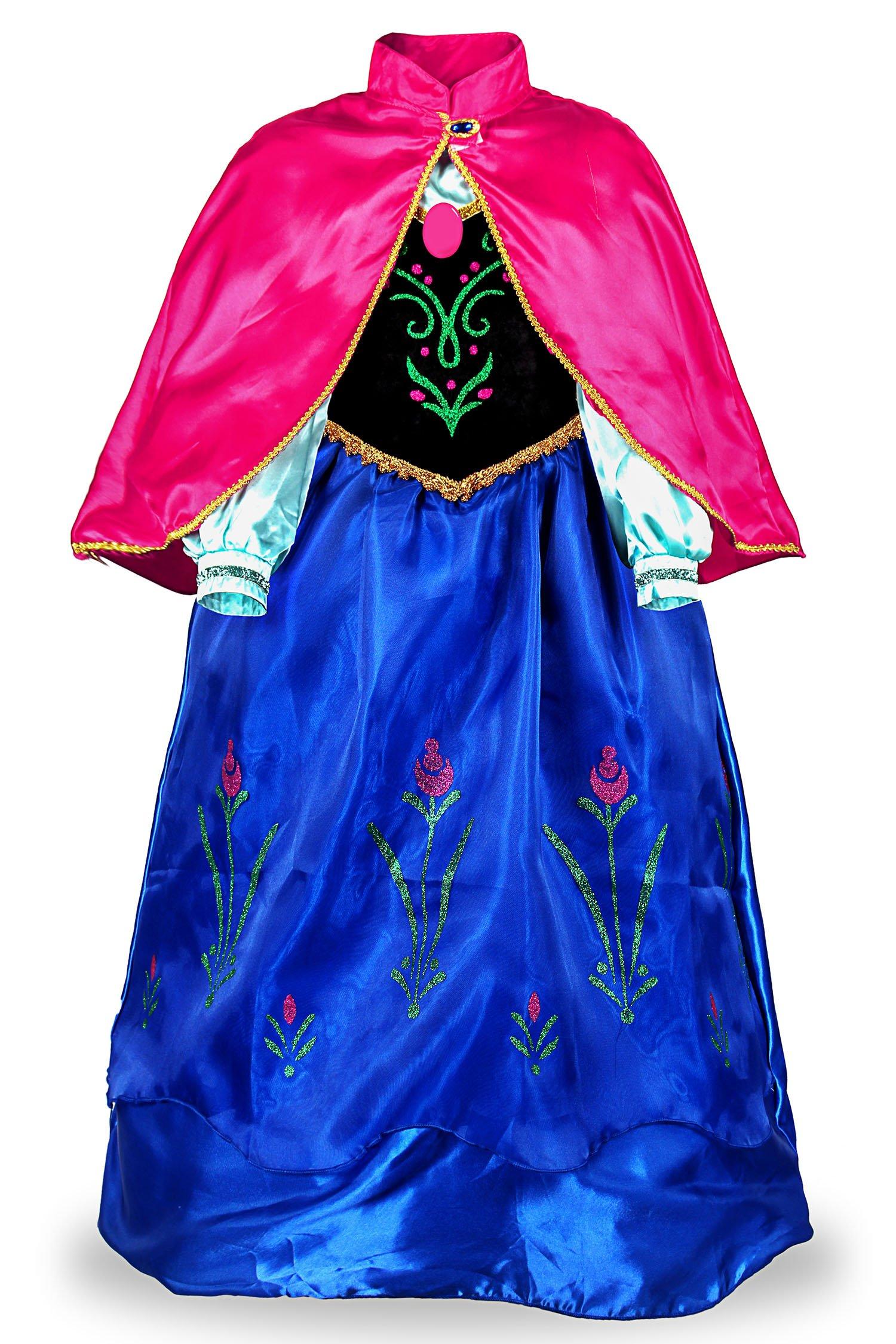 81LhIzObe L El vestido de princesa Anna es un gran regalo para tu chica Mangas largas y diseño de manto desmontable Puño elástico y exquisito estampado floral disfraz princesa ana frozen