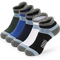 5 Pairs Womens Running Scoks Walking Hiking Trainer Sports Socks for Women Ladies Blister Cushioned Ankle Socks White…