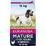 Eukanuba Hondenvoer met verse kip voor middelgrote rassen, premium droogvoer voor rijpe honden, 15 kg